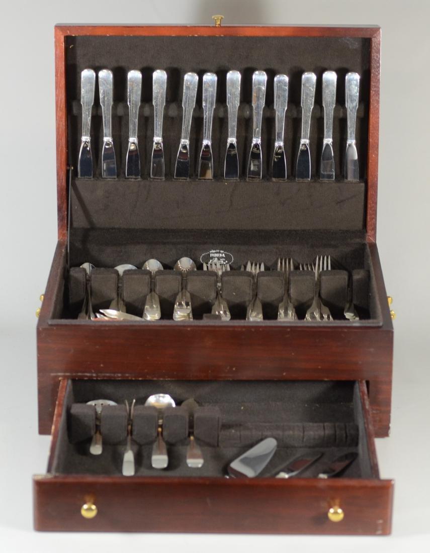 81 Pc Gorham Old English Tipt sterling silver flatware