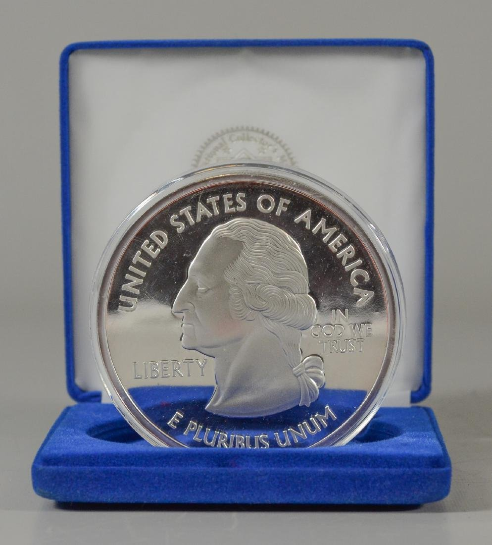 National Collectors Mint 1 lb .999 silver quarter