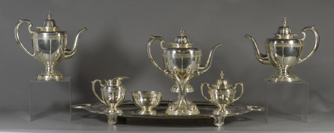 7 pc Sanborns, Mexico sterling silver tea set