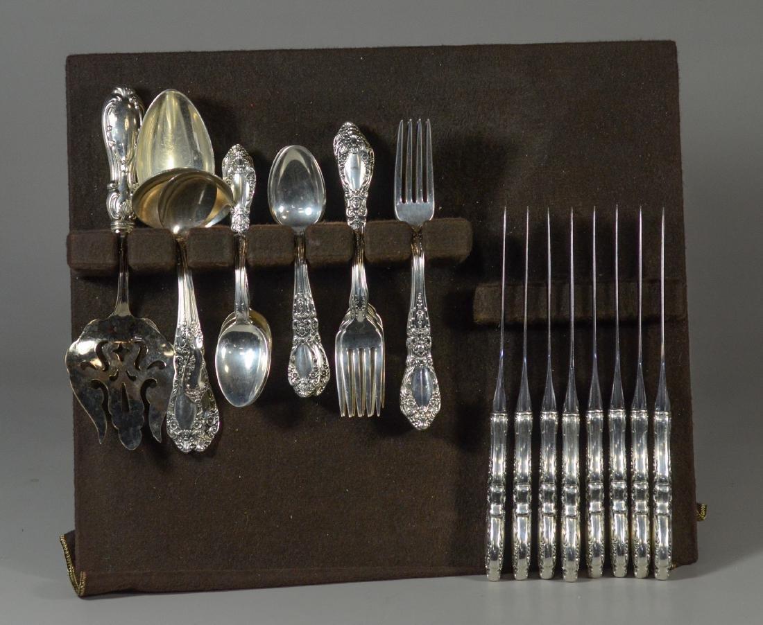 45 pcs Alvin Prince Eugene sterling silver flatware