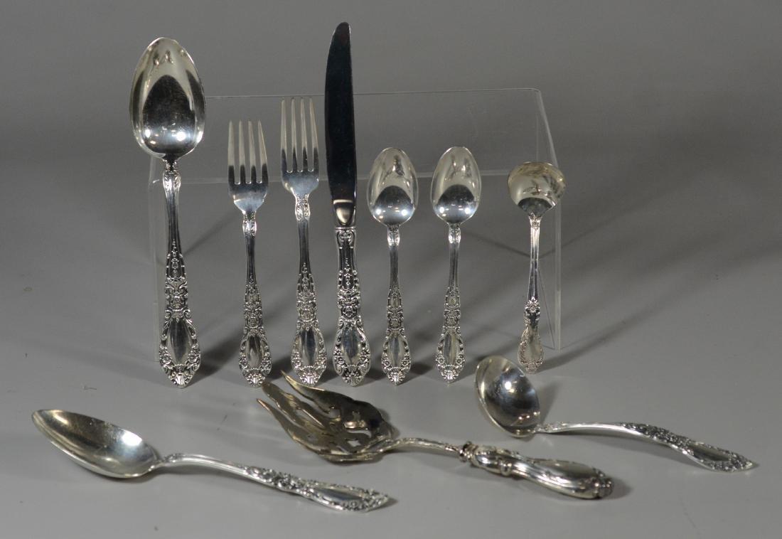 45 pcs Alvin Prince Eugene sterling silver flatware - 2
