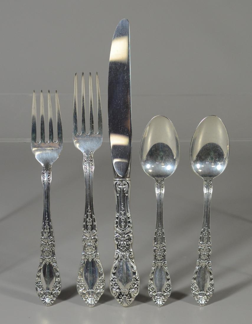 45 pcs Alvin Prince Eugene sterling silver flatware - 3