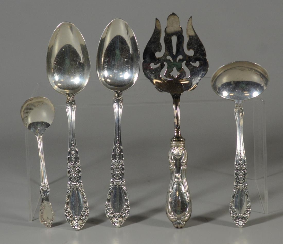 45 pcs Alvin Prince Eugene sterling silver flatware - 4