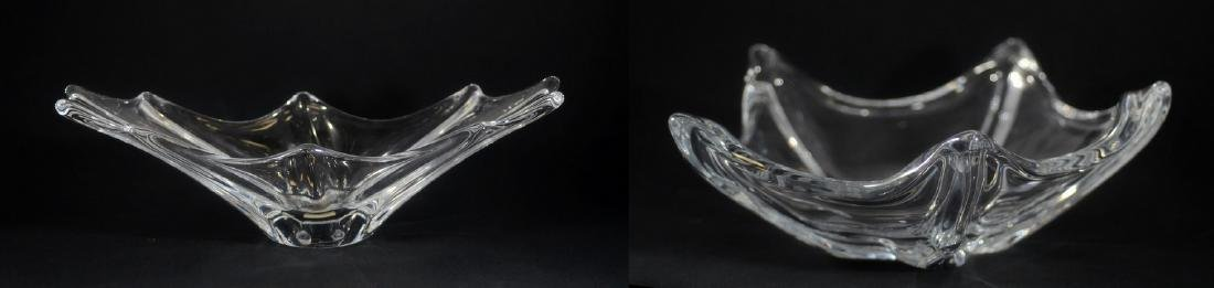 2 Daum crystal center bowls
