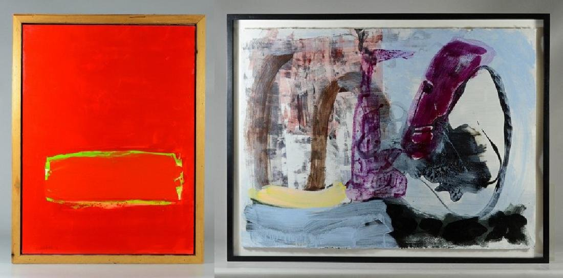 2 Contemporary abstract paintings, Elizabeth Foster