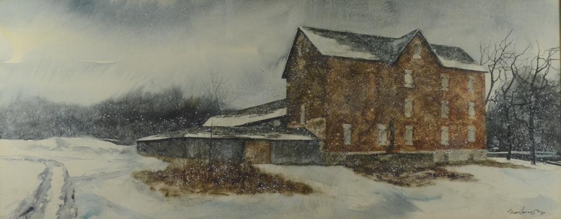 "Paul Scarborough, ""Brandywine River Museum in Winter"""