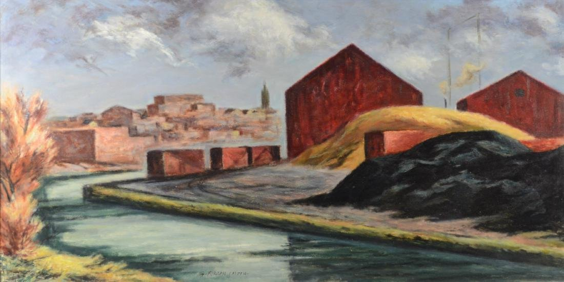 G Ralph Smith, Industrial landscape painting