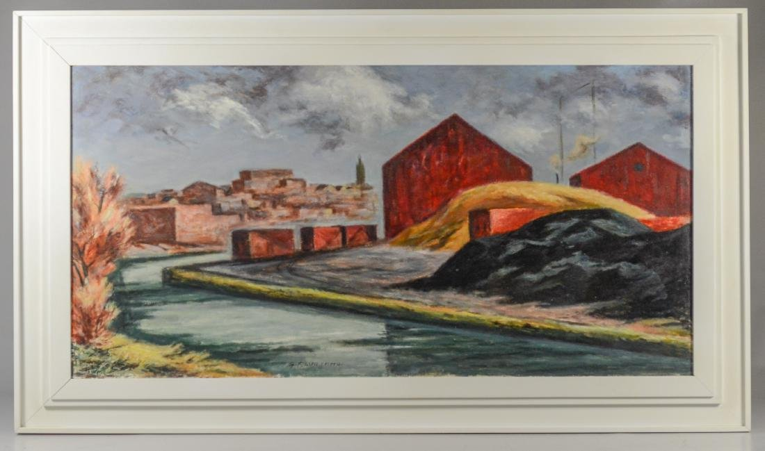 G Ralph Smith, Industrial landscape painting - 2
