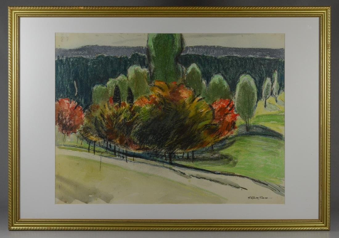 "G Ralph Smith, watercolor painting, ""Country Landscape"""