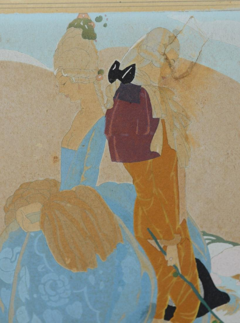 Umberto Brunelleschi, gouache illustration of couple - 3