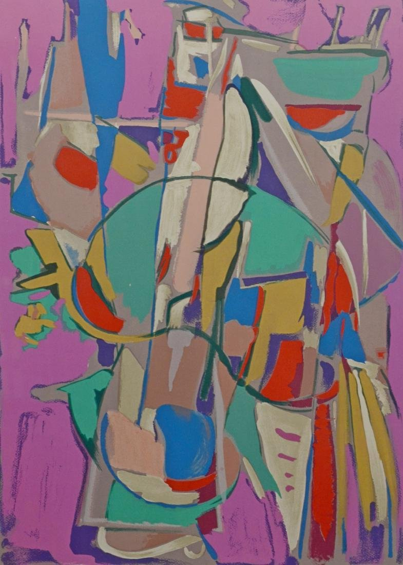 Andre Lanskoy, abstract composition serigraph