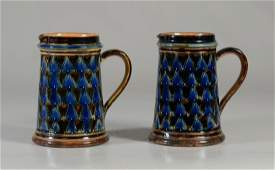 PR of Doulton Lambeth stoneware pitchers