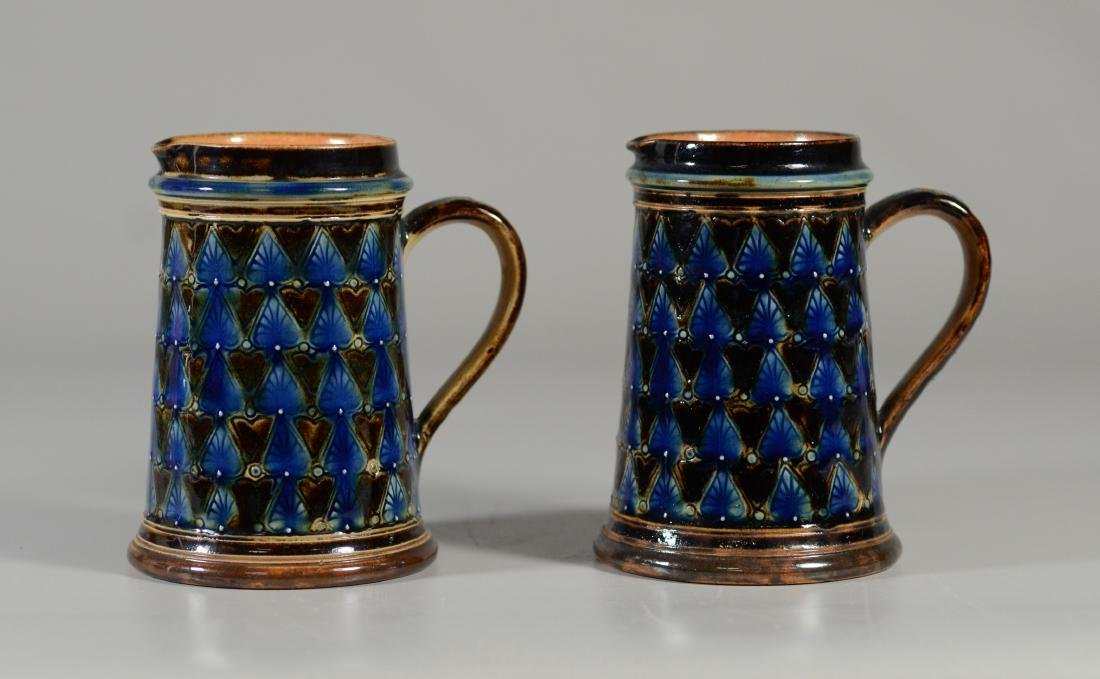 PR of Doulton Lambeth stoneware pitchers