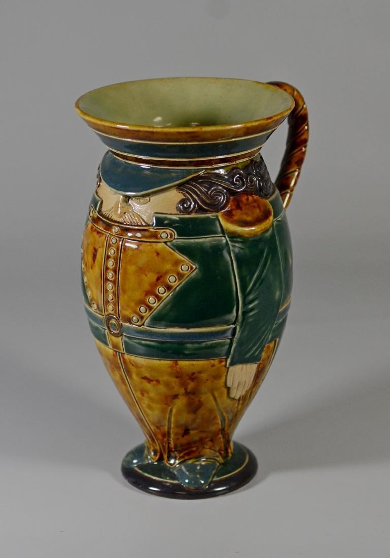 Doulton Lambeth figural stoneware pitcher - 2