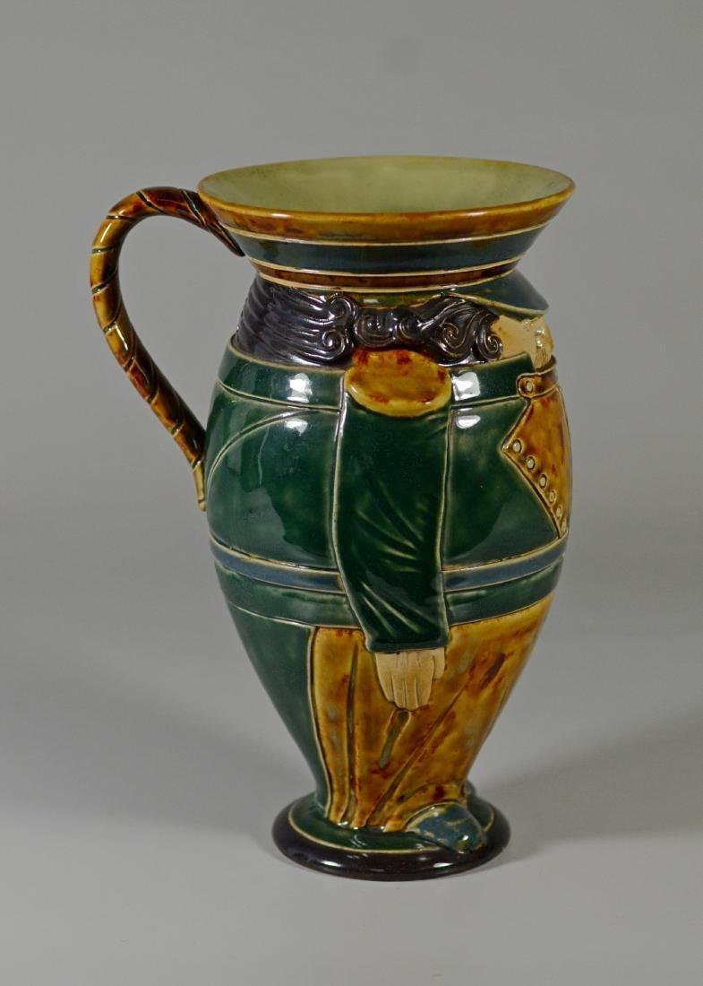 Doulton Lambeth figural stoneware pitcher - 3