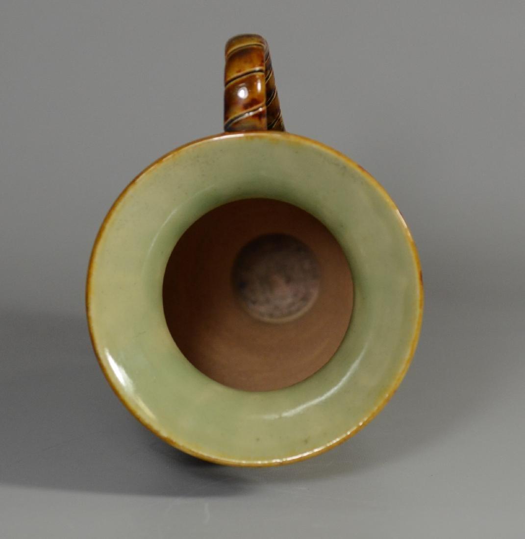 Doulton Lambeth figural stoneware pitcher - 5