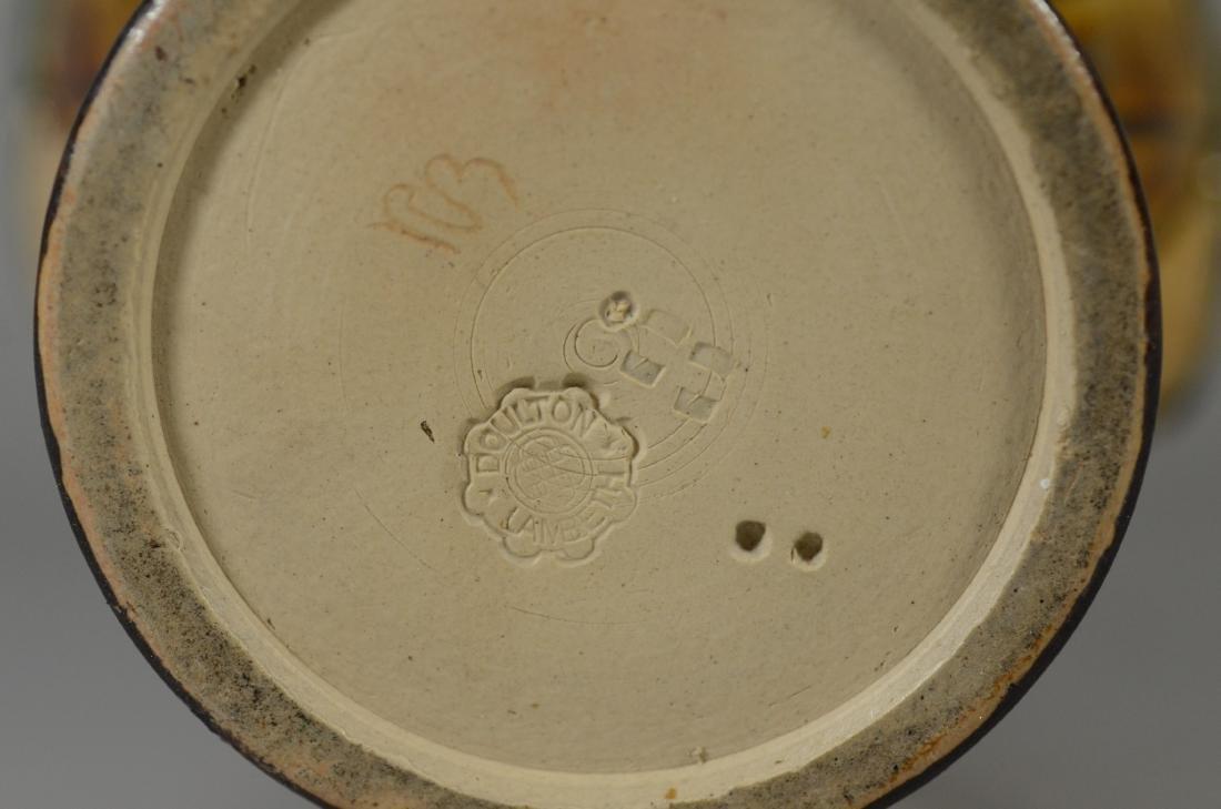 Doulton Lambeth figural stoneware pitcher - 7