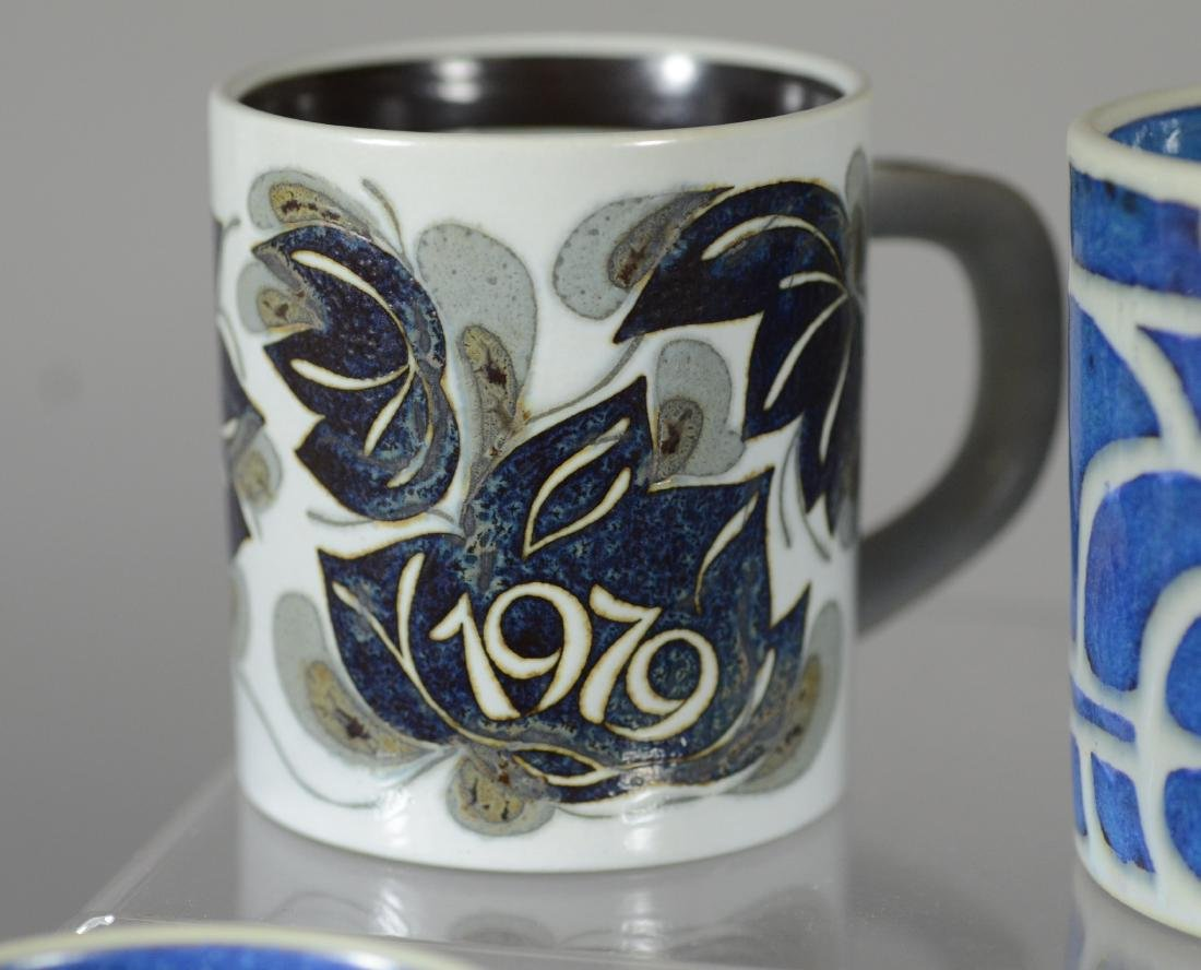 13 Royal Copenhagen faience annual mugs, 1967-1979, - 3