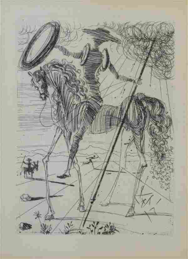 Salvador Dali, Don Quixote, posthumus etching