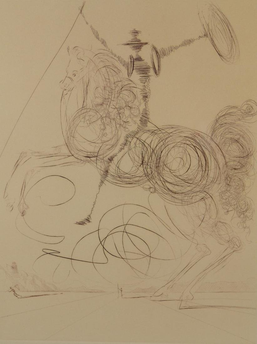 "Salvador Dali, ""Don Quixote"", signed etching,"