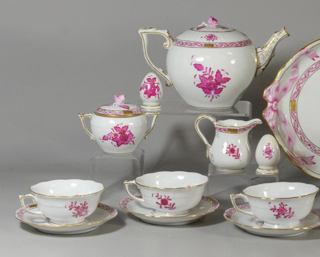 "(30) pieces Herend ""Chinese Bouquet Raspberry"" - 2"