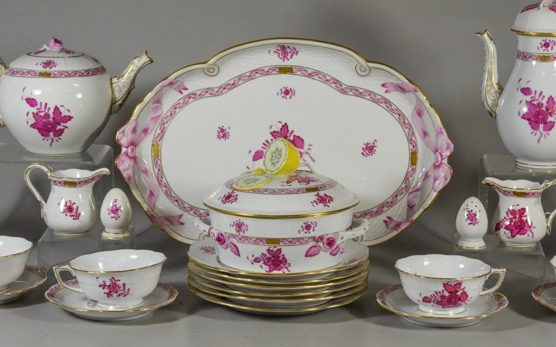 "(30) pieces Herend ""Chinese Bouquet Raspberry"" - 3"