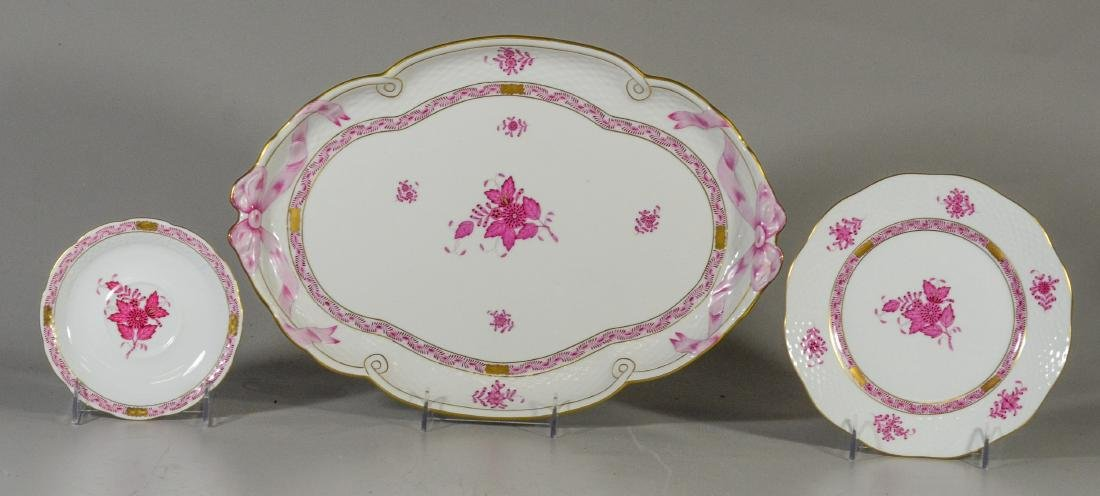 "(30) pieces Herend ""Chinese Bouquet Raspberry"" - 8"