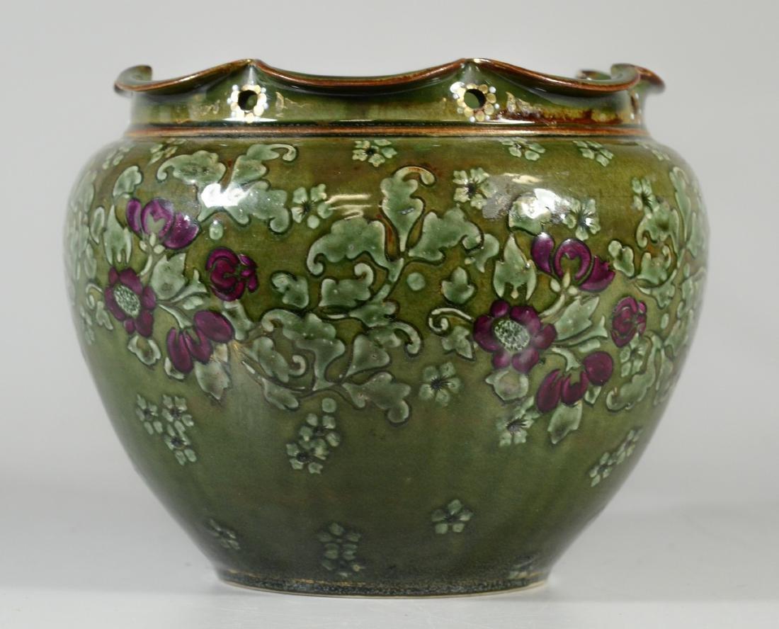 Doulton Burslem pottery jardiniere