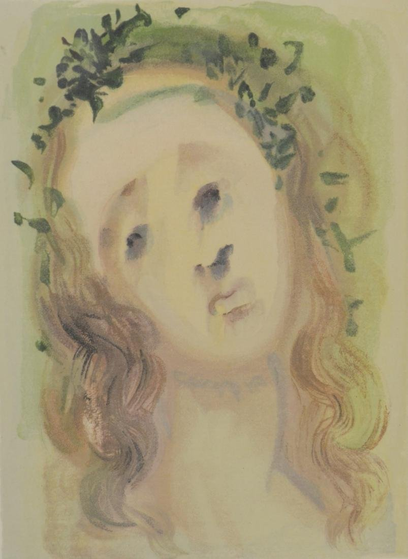 "Salvador Dali color lithograph ""Le Visage de Virgile"""