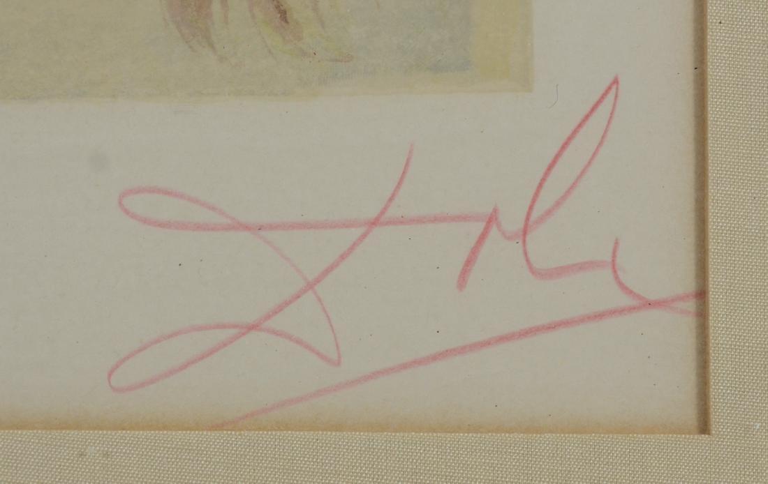 """Salvador Dali color lithograph """"Le Visage de Virgile"""" - 2"""