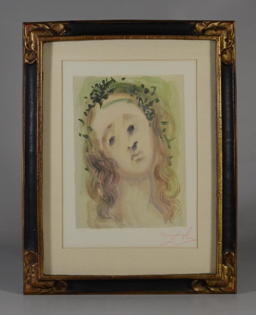 """Salvador Dali color lithograph """"Le Visage de Virgile"""" - 3"""