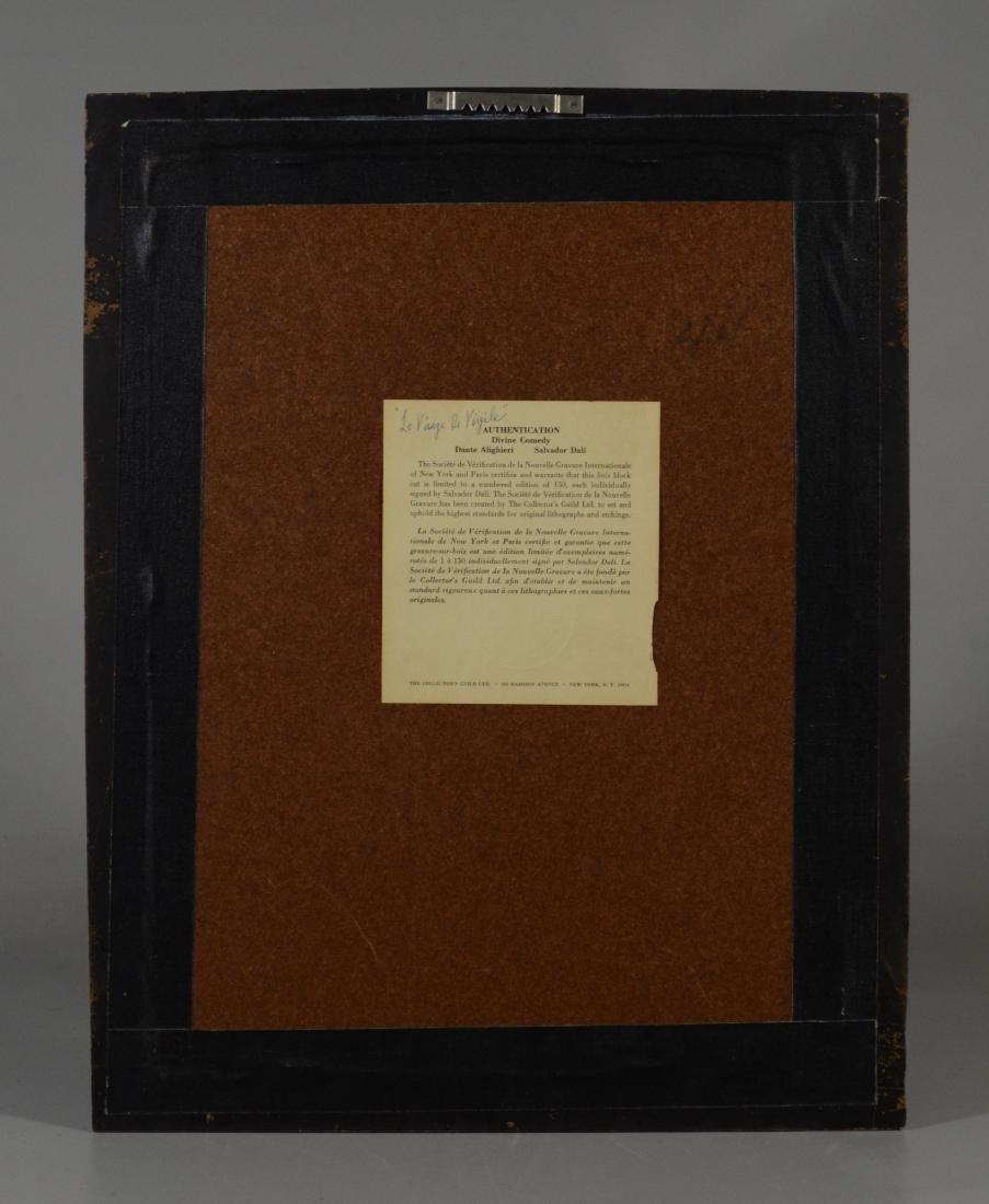 """Salvador Dali color lithograph """"Le Visage de Virgile"""" - 4"""