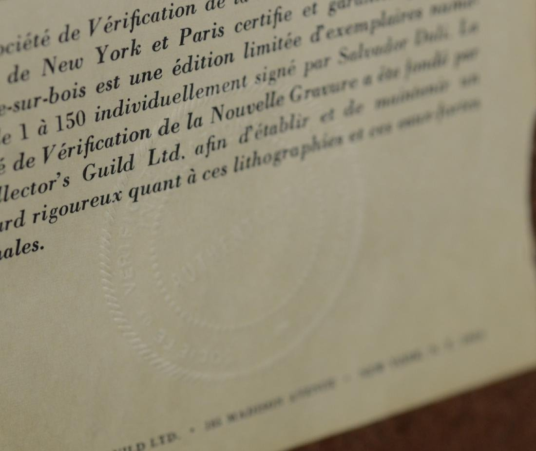 """Salvador Dali color lithograph """"Le Visage de Virgile"""" - 6"""