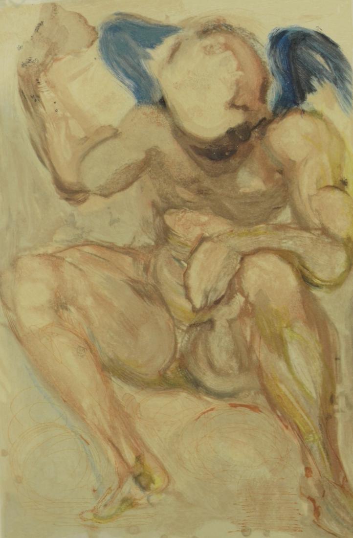 "Salvador Dali color lithograph, ""L'Envie"""