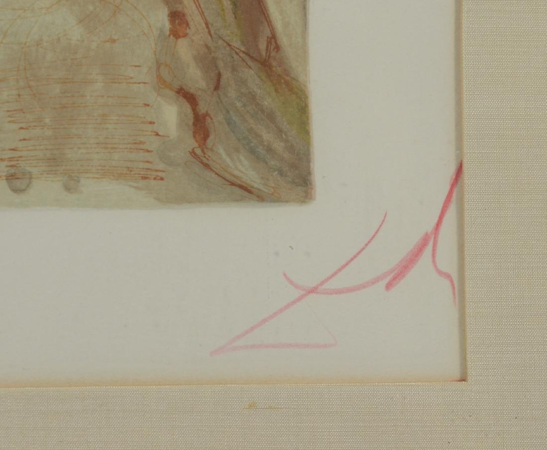 "Salvador Dali color lithograph, ""L'Envie"" - 3"