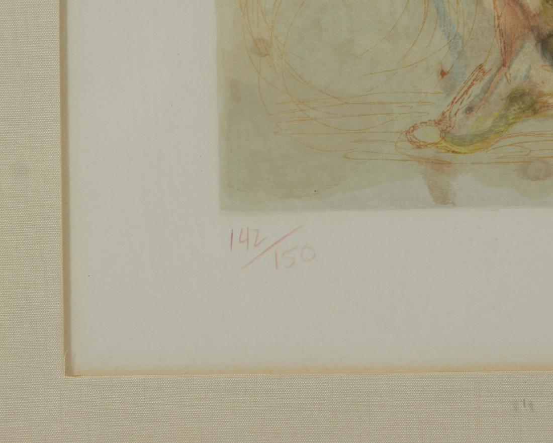 "Salvador Dali color lithograph, ""L'Envie"" - 4"