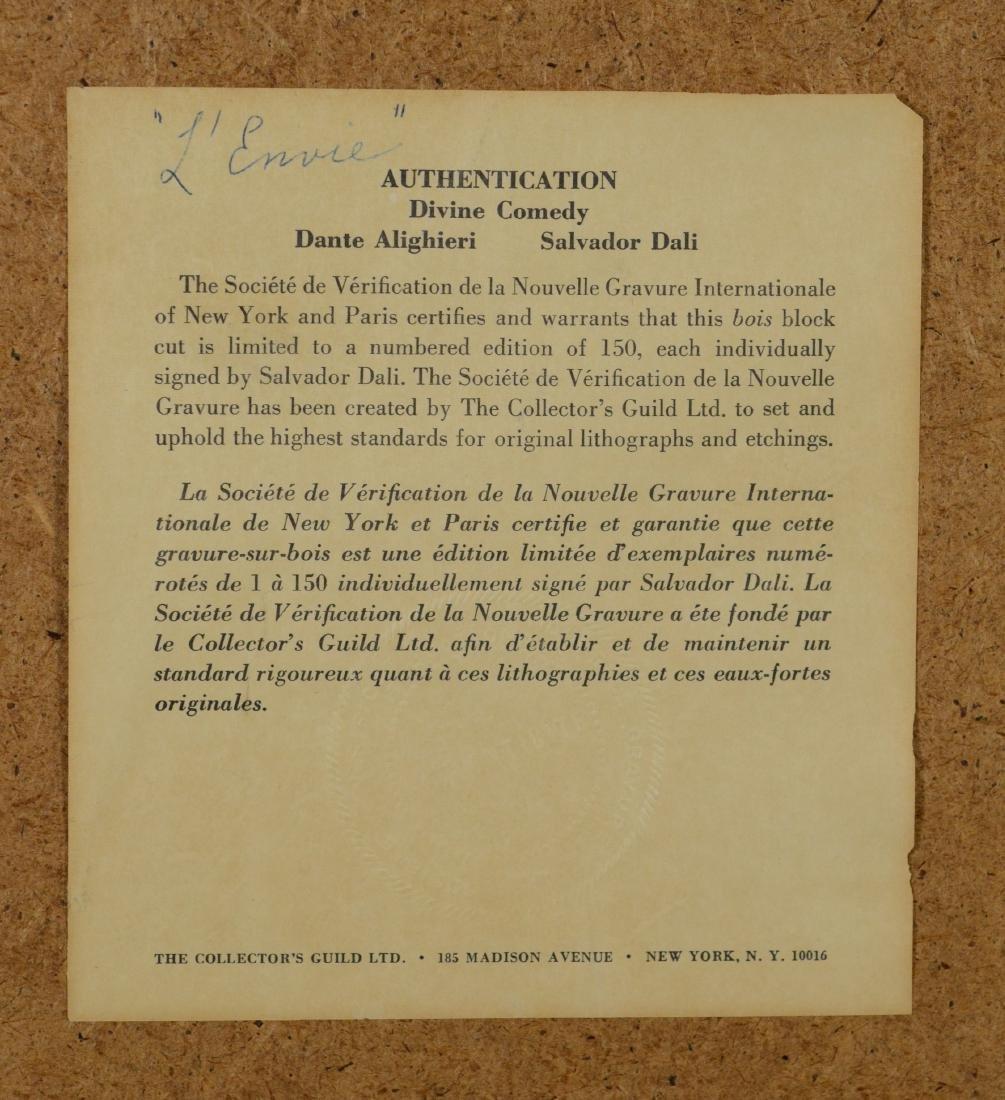 "Salvador Dali color lithograph, ""L'Envie"" - 6"