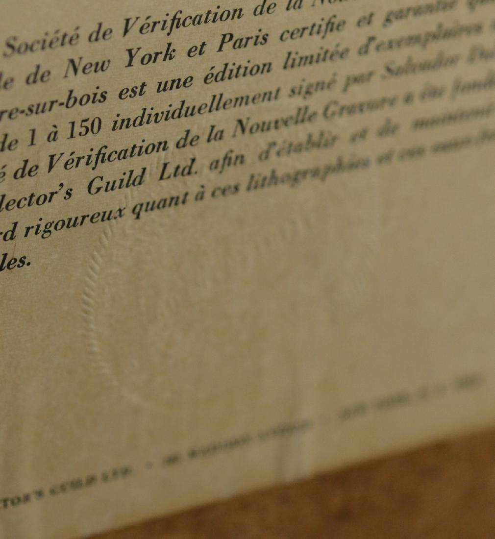 "Salvador Dali color lithograph, ""L'Envie"" - 7"
