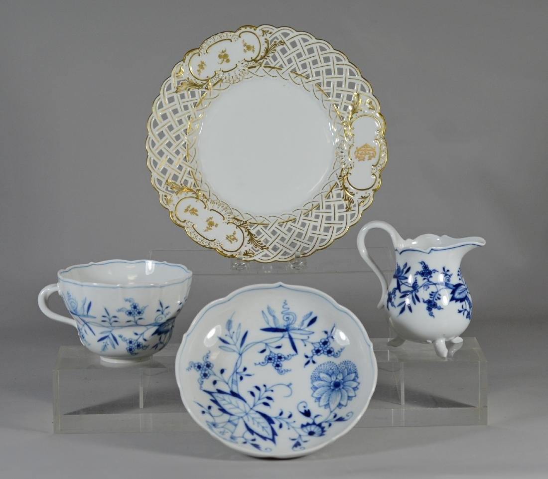 (4) Pieces of Meissen, to include an oversized cup