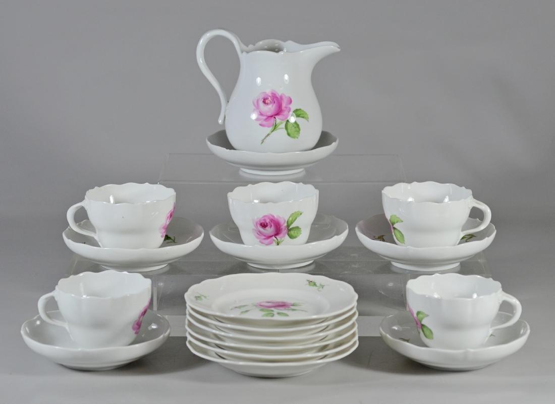 (18) Piece partial Meissen coffee set
