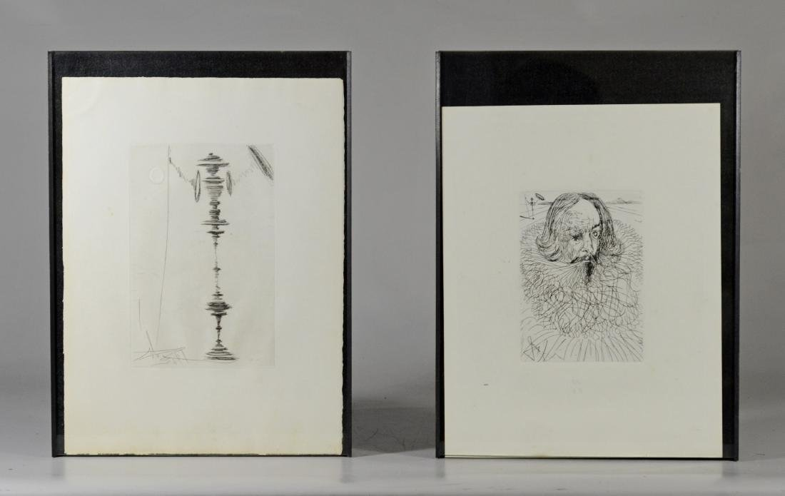 (2) Salvador Dali  posthumous etchings