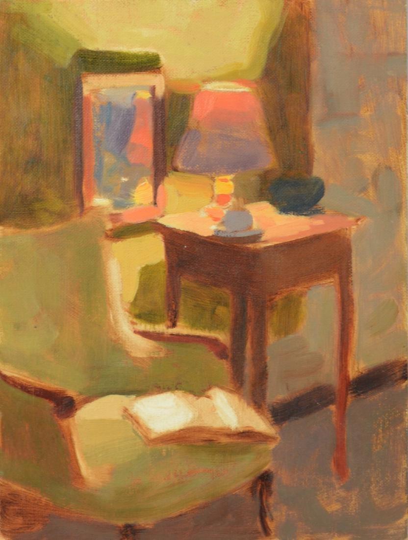 """Jon Redmund il painting on panel """"Interior at CCAA"""""""