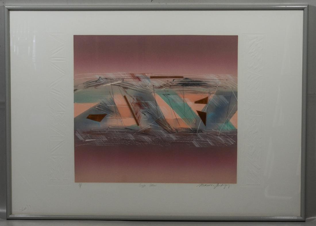 "Marcelino Rodriguez,  monoprint, ""Copper Patterns"""