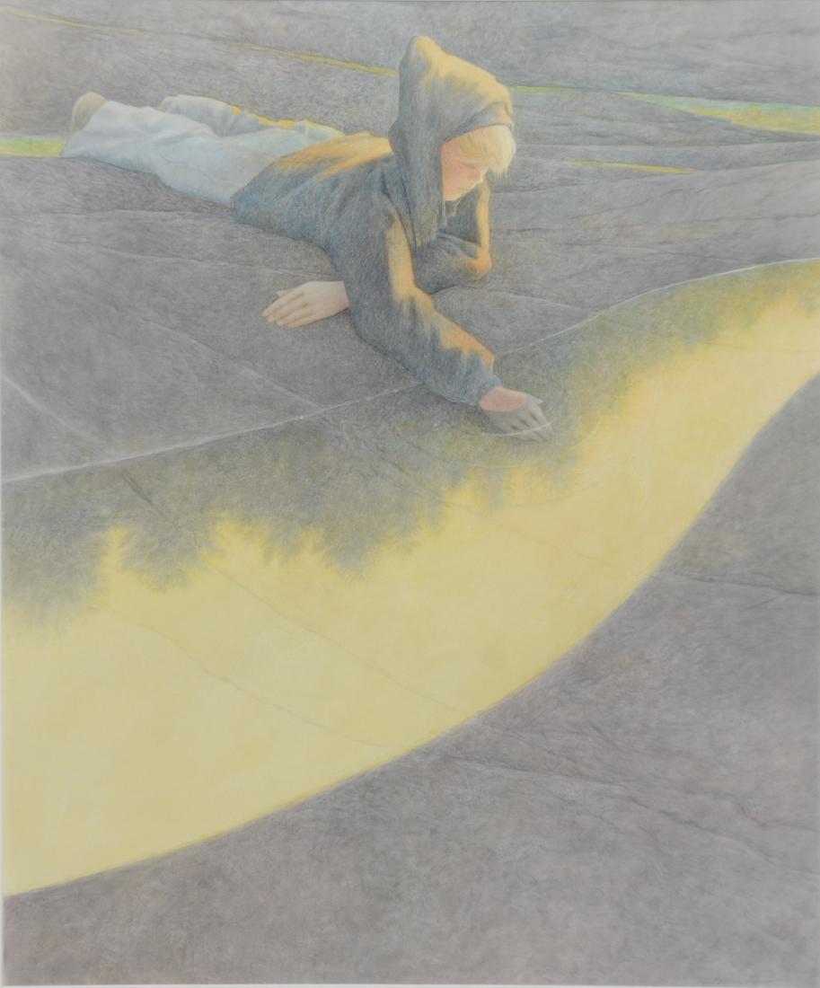 Greg Mort (American, b 1952), watercolor, Tide Pool,