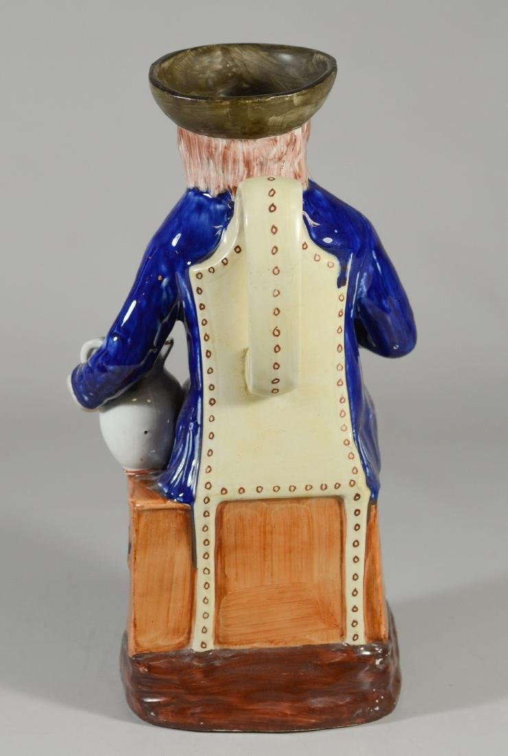 Large unmarked toby jug, sailor seated on trunk - 4