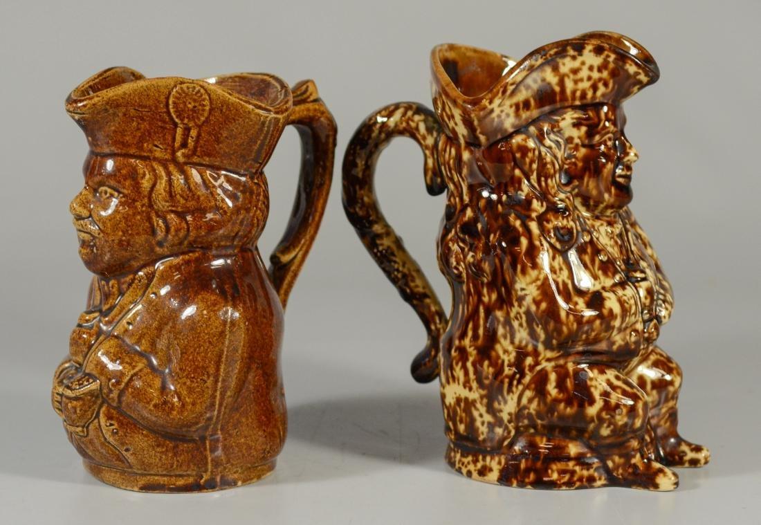 2 Bennington style toby jugs