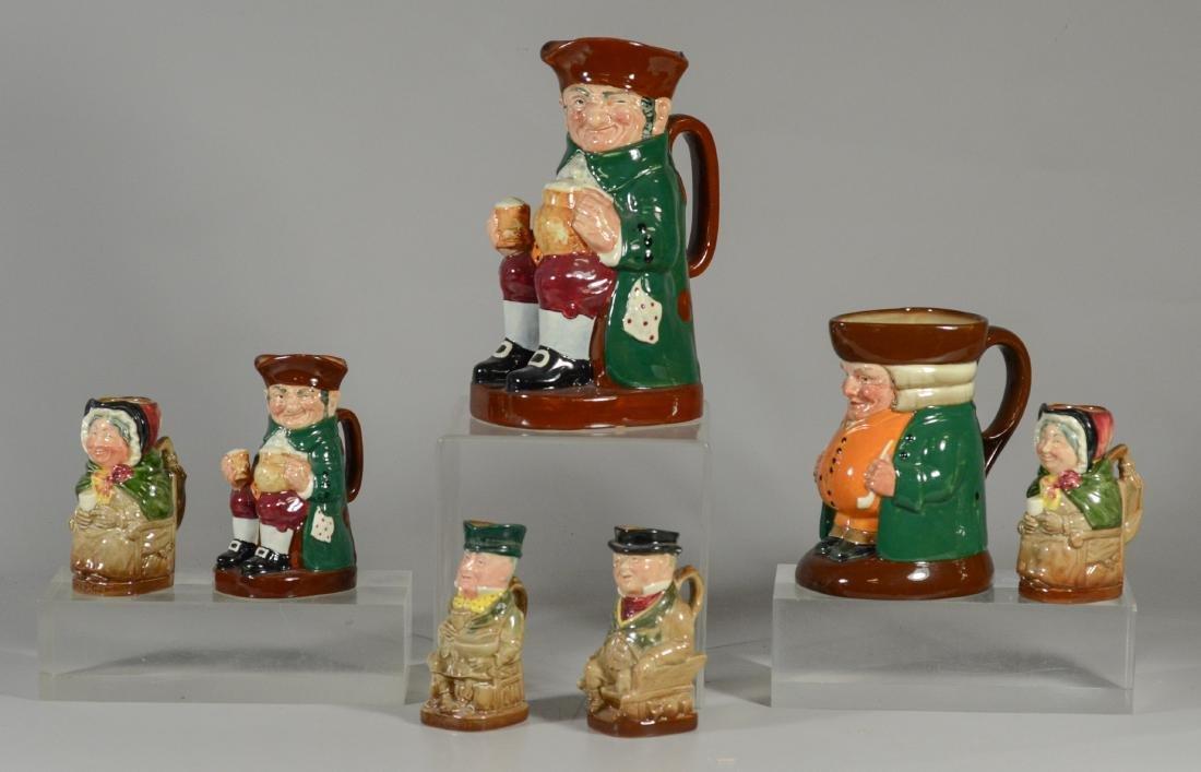 7 Royal Doulton toby jugs