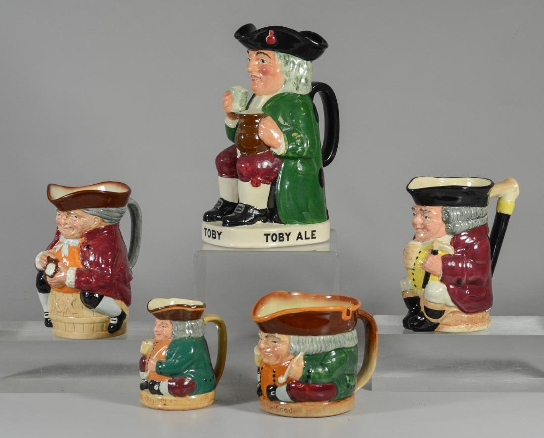 5 Royal Doulton toby jugs