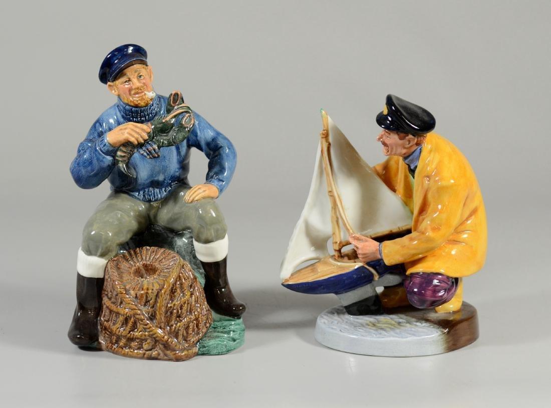 2 Royal Doulton figurines, Lobster Man, Sailors Holiday