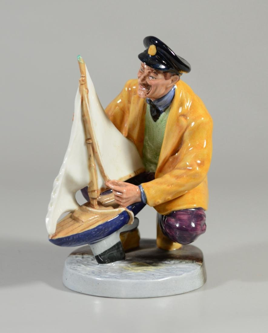 2 Royal Doulton figurines, Lobster Man, Sailors Holiday - 2